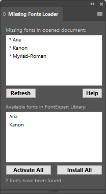 Missing Fonts Loader Plug-in for Adobe Illustrator